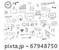 ビジネスイラストセット(手描き) 67948750