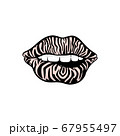 Sexy women mouth with zebra skin pattern, cartoon vector illustration isolated. 67955497