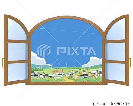 窓 街 風景 眺め 換気  67960358