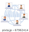 ビジネス ビル街 ネットワーク 仕事仲間 67962414