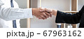 Greeting new colleagues, Handshake while job 67963162