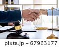 Handshake after good cooperation, Businesswoman 67963177