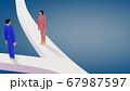 人生の岐路に立つ男女が離婚とその先の人生について考えている光景 67987597