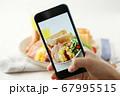 スマホ スマートフォン SNS映え 料理写真 67995515
