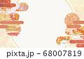 和紙の風合いを感じる背景イラスト-秋、紅葉の素材 68007819