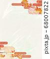 和紙の風合いを感じる背景イラスト-秋、紅葉の素材 68007822