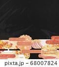 和紙の風合いを感じる背景イラスト-秋、紅葉の素材 68007824