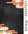 和紙の風合いを感じる背景イラスト-秋、紅葉の素材 68007825