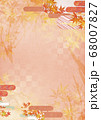和紙の風合いを感じる背景イラスト-秋、紅葉の素材 68007827