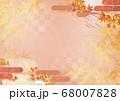 和紙の風合いを感じる背景イラスト-秋、紅葉の素材 68007828