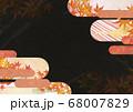 和紙の風合いを感じる背景イラスト-秋、紅葉の素材 68007829