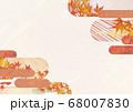和紙の風合いを感じる背景イラスト-秋、紅葉の素材 68007830