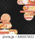 和紙の風合いを感じる背景イラスト-秋、紅葉の素材 68007832