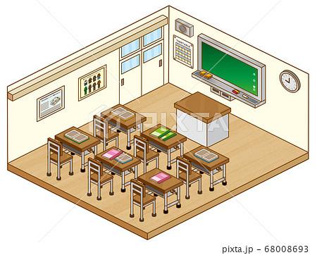 学校の教室 68008693