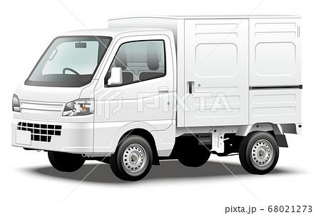 商用車イラスト 軽自動車 軽トラック 軽パネルバン オリジナルデザイン 68021273