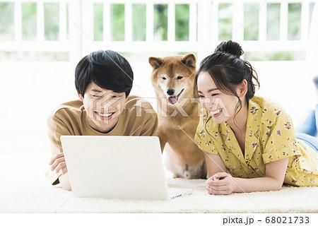 夫婦 パソコン 検索 犬 68021733