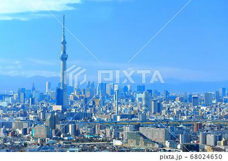 【東京都】 東京スカイツリーと新宿副都心 68024650