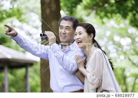 シニア夫婦の旅行 バードウオッチング 68028977