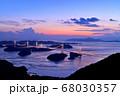 来島海峡大橋の夕日 68030357