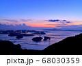来島海峡大橋の夕日 68030359