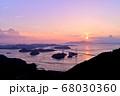 来島海峡大橋の夕日 68030360