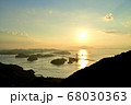 来島海峡大橋の夕日 68030363