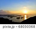 来島海峡大橋の夕日 68030368