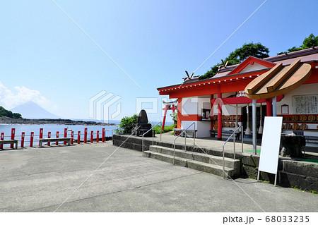 射楯兵主神社(釜蓋神社)と開聞岳の景色 68033235