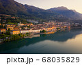 Aerial shot of Lake Iseo and Lovere cxity 68035829