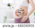 妊娠 臨月 ボディペイント 68036950