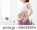 妊娠 臨月 ボディペイント 68036954