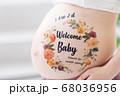 妊娠 臨月 ボディペイント 68036956