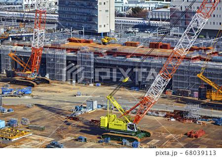 建設中の高輪ゲートウェイ駅 東京都港区 68039113