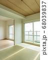 リフォーム 後 不動産 マンション おしゃれ モダン 和 和室 リビング 白 クロス 張り替え 投資 68039837