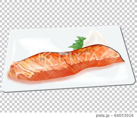 板上烤三文魚 68053016