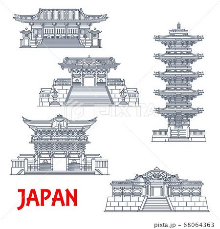 Japanese travel landmarks, Nikko shrines, temples 68064363
