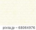麻の葉文様の和紙の背景 68064976