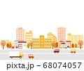 秋の街並み 背景イラスト 68074057