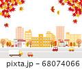 秋の街並み 背景イラスト 68074066