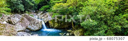 新緑の千綿渓谷 パノラマ 【長崎県東彼杵郡】 68075307