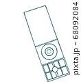 レトロな8センチシングルのイラスト(青緑 線塗り) 68092084