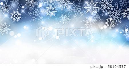 クリスマス 雪 冬 背景  68104537