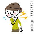 肩の痛み 中高年 女性 68106604