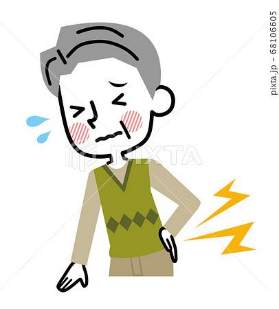 腰痛 シニア 男性 68106605