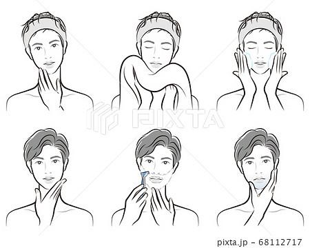 男性の表情のイラスト 68112717