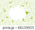 森の動物たち イラスト グリーン 68139925