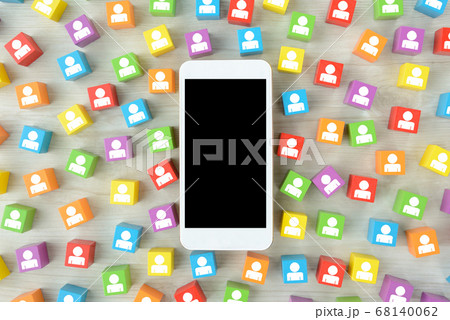 スマートフォンで情報拡散イメージ 68140062