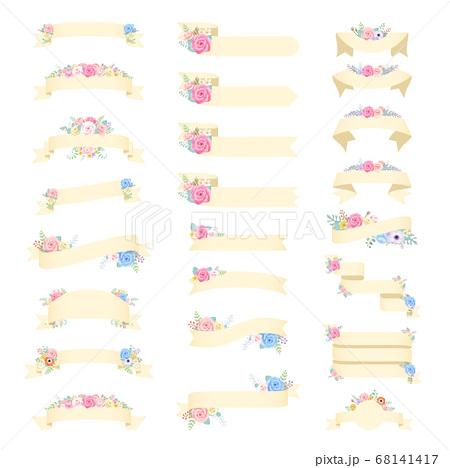 バラ 薔薇 花 リボン 花 フレーム 68141417