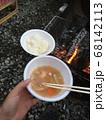 キャンプで作った豚汁と白米 68142113