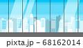 【背景素材】シームレス ガラス張りのモダンな都会のオフィス、マンション 横方向に繋げられるシームレス 68162014